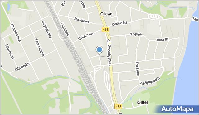Gdynia, Olchowa, mapa Gdyni