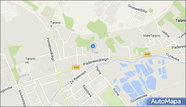 Grudziądz, Olsztyńska, mapa Grudziądza