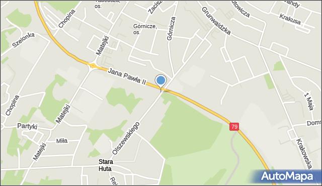 Jaworzno, Olszewskiego Karola, mapa Jaworzno