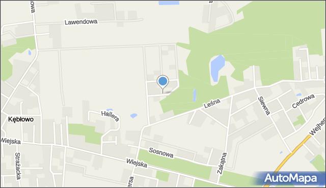 Kębłowo gmina Luzino, Olchowa, mapa Kębłowo gmina Luzino