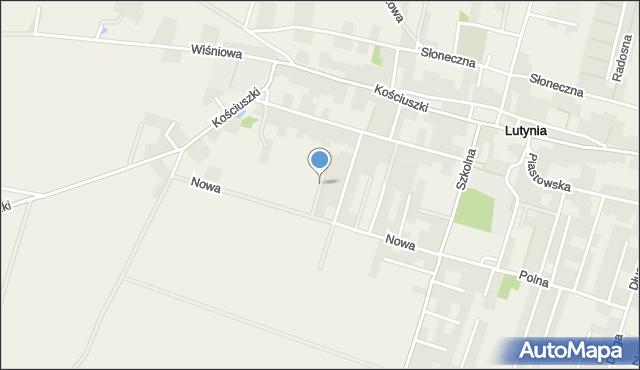 Lutynia gmina Miękinia, Oliwkowa, mapa Lutynia gmina Miękinia