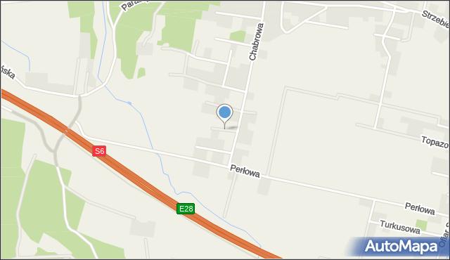 Luzino, Oliwkowa, mapa Luzino