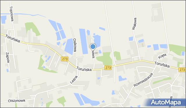 Mała Nieszawka, Olchowa, mapa Mała Nieszawka