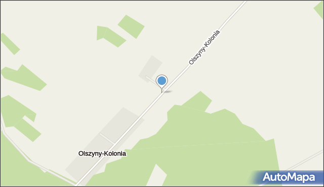 Olszyny-Kolonia, Olszyny-Kolonia, mapa Olszyny-Kolonia