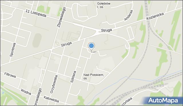 Radom, Olsztyńska, mapa Radomia