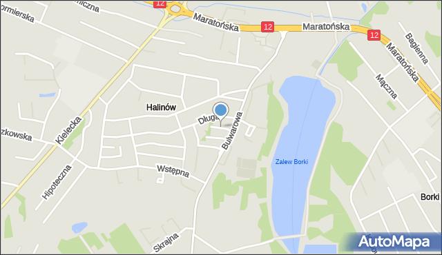 Radom, Olimpijska, mapa Radomia