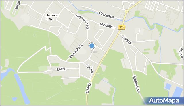 Ruda Śląska, Olszynowa, mapa Rudy Śląskiej