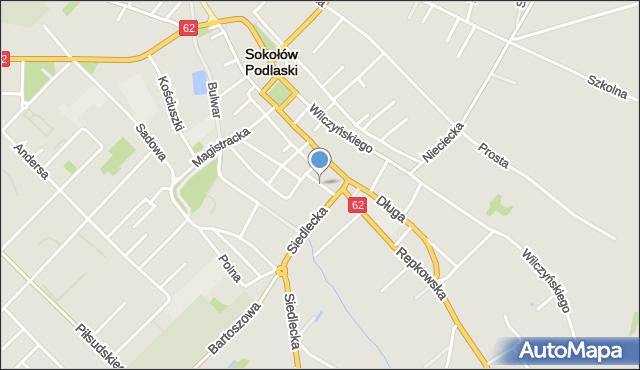 Sokołów Podlaski, Olszewskiego, mapa Sokołów Podlaski