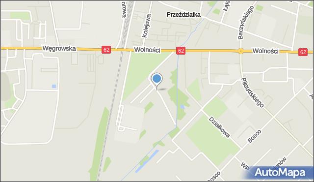 Sokołów Podlaski, Olszowa, mapa Sokołów Podlaski