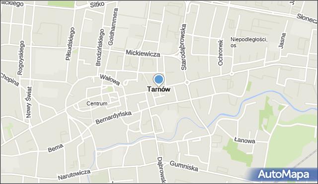 Tarnów, Olejarska, mapa Tarnów