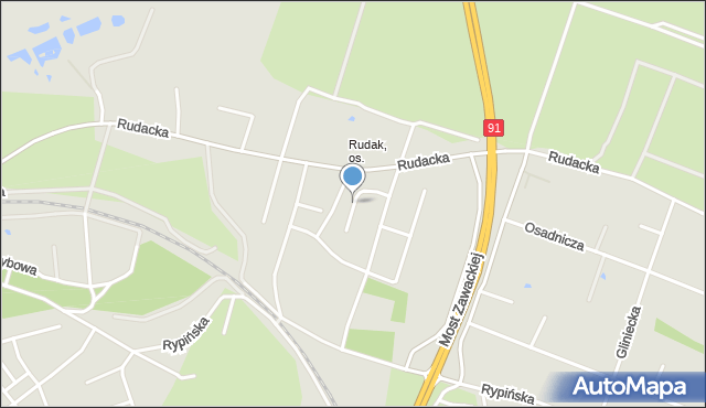 Toruń, Oleńki, mapa Torunia