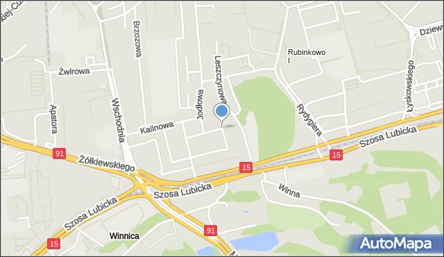 Toruń, Olszynowa, mapa Torunia