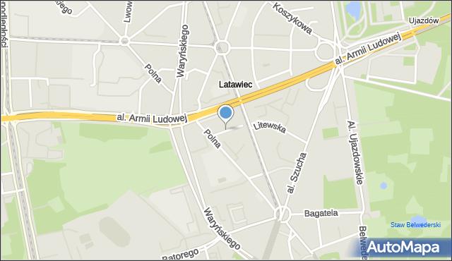 Warszawa, Oleandrów, mapa Warszawy