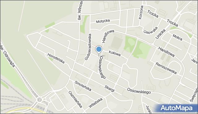 Warszawa, Olgierda, mapa Warszawy