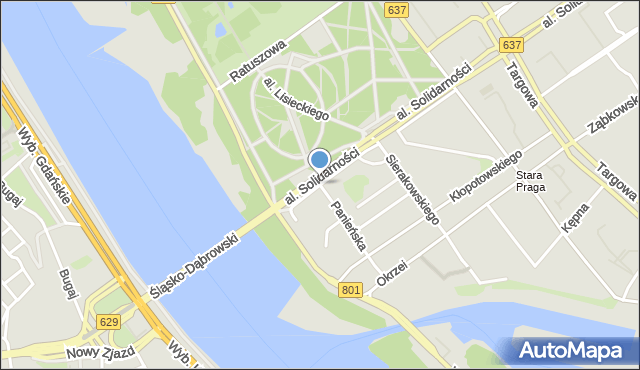 Warszawa, Olszowa, mapa Warszawy