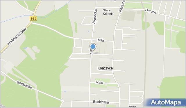 Zabrze, Olsztyńska, mapa Zabrza