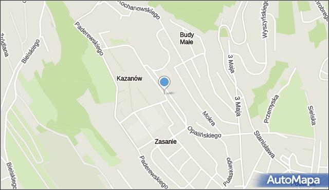 Przemyśl, Opalińskiego Kazimierza, mapa Przemyśla