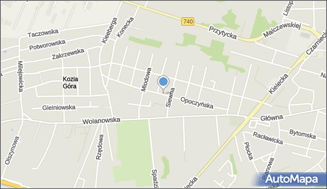 Radom, Opoczyńska, mapa Radomia