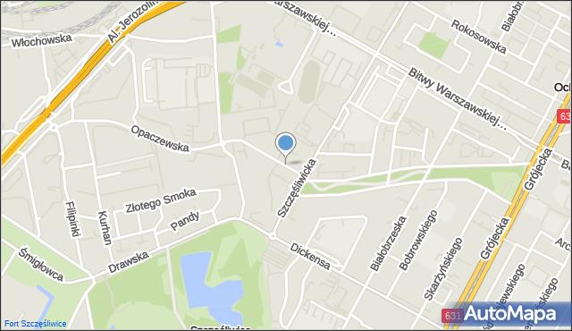 Warszawa, Opaczewska, mapa Warszawy