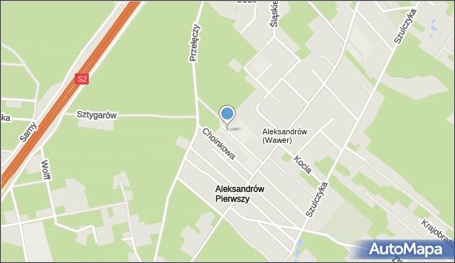 Warszawa, Optymistów, mapa Warszawy