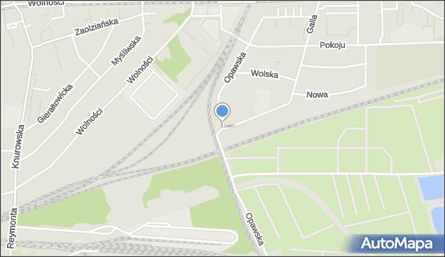 Zabrze, Opawska, mapa Zabrza