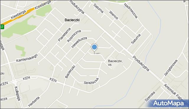 Białystok, Orbitalna, mapa Białegostoku