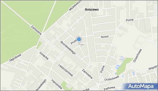 Bolszewo, Orzeszkowej Elizy, mapa Bolszewo