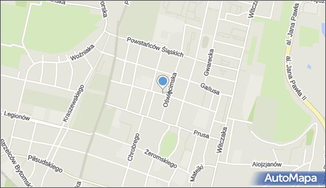 Bytom, Orląt Lwowskich, mapa Bytomia