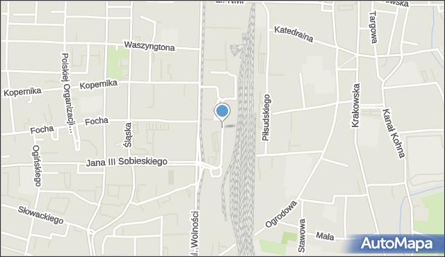 Częstochowa, Orzechowskiego, mapa Częstochowy