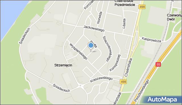 Grudziądz, Orkana Władysława, mapa Grudziądza