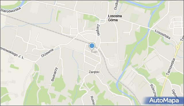 Limanowa, Orzeszkowej Elizy, mapa Limanowa