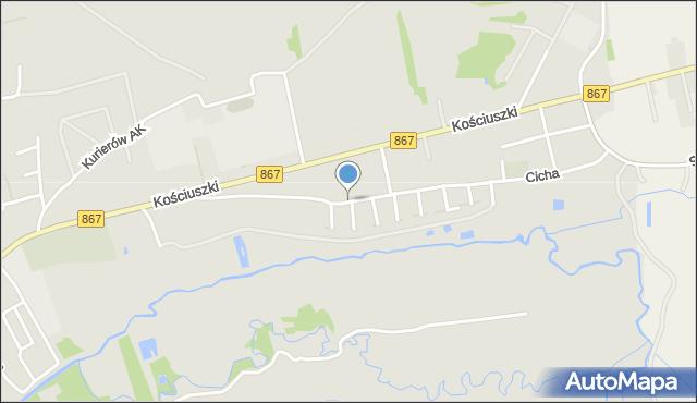 Lubaczów, Orzeszkowej Elizy, mapa Lubaczów