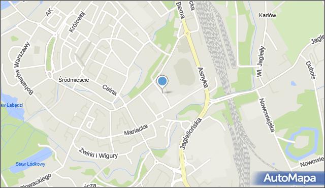 Nysa, Orkana Władysława, mapa Nysy