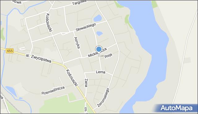 Olecko, Orzeszkowej Elizy, mapa Olecko
