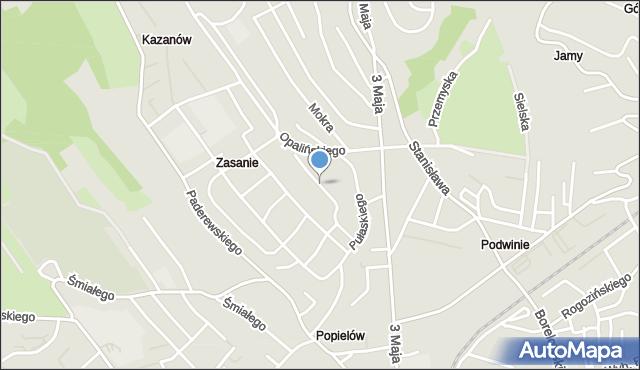 Przemyśl, Orkana Władysława, mapa Przemyśla