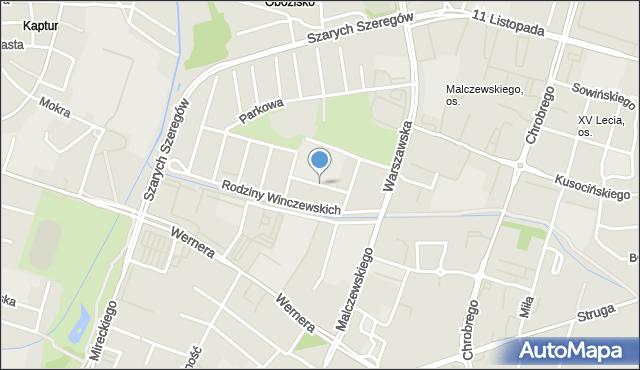 Radom, Orzeszkowej Elizy, mapa Radomia