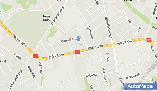 Radom, Ordona Juliana Konstantego, mapa Radomia