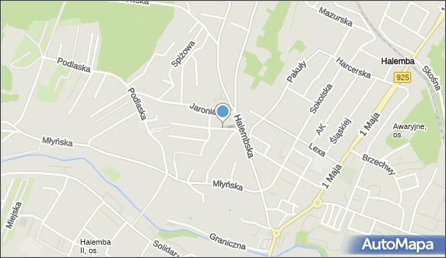 Ruda Śląska, Orla, mapa Rudy Śląskiej