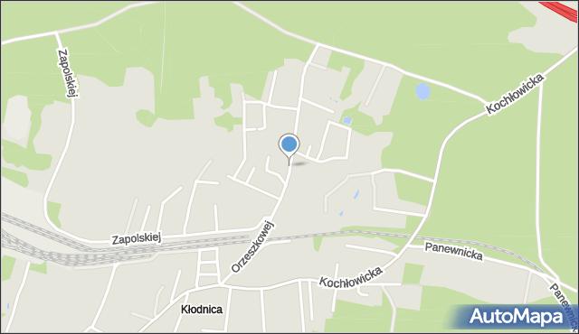 Ruda Śląska, Orzeszkowej Elizy, mapa Rudy Śląskiej