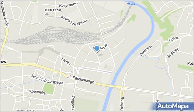 Rzeszów, Orzeszkowej Elizy, mapa Rzeszów