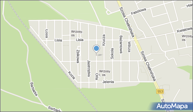 Toruń, Orla, mapa Torunia