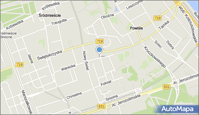 Warszawa, Ordynacka, mapa Warszawy
