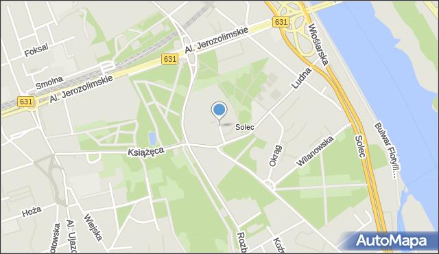 Warszawa, Orłowicza Mieczysława, mapa Warszawy