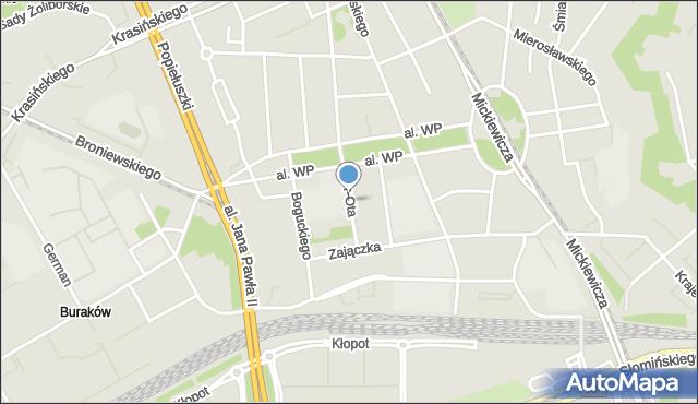 Warszawa, Or-Ota, mapa Warszawy