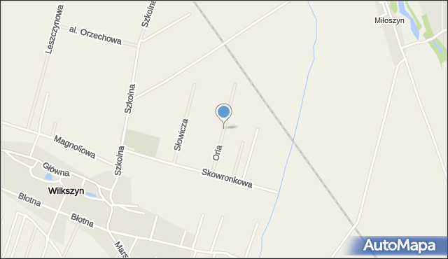 Wilkszyn, Orla, mapa Wilkszyn