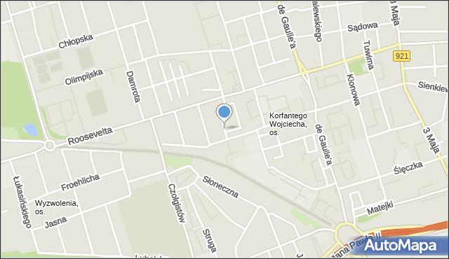 Zabrze, Orkana Władysława, mapa Zabrza
