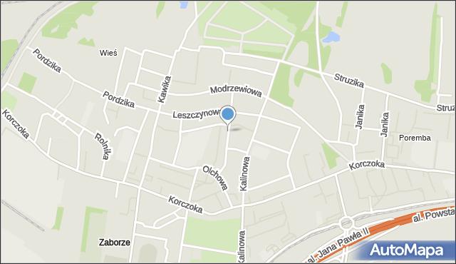 Zabrze, Orzechowa, mapa Zabrza