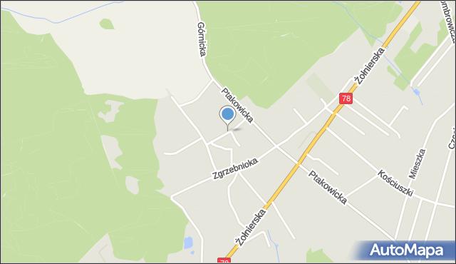 Bytom, Osikowa, mapa Bytomia