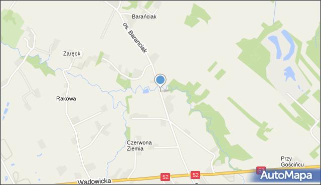 Chocznia, Osiedle Baranciak, mapa Chocznia