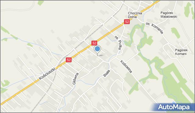 Chocznia, Osiedle Putka Józefa, dr., mapa Chocznia